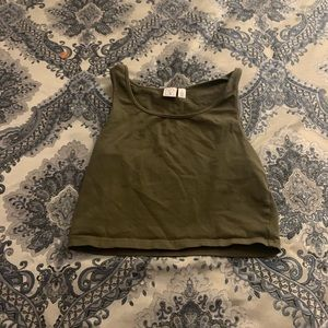 BP olive green crop top in great condition